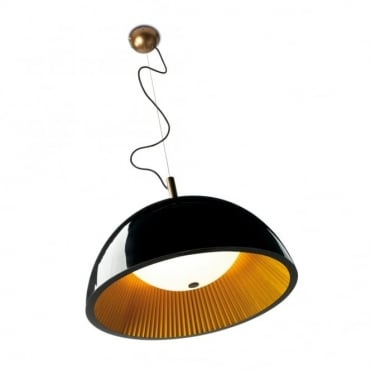 UMBRELLA - Large 3 Light Golden Black Ceiling Pendant