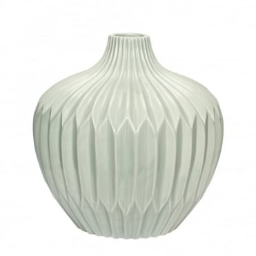 LARGE - Green Ceramic Vase