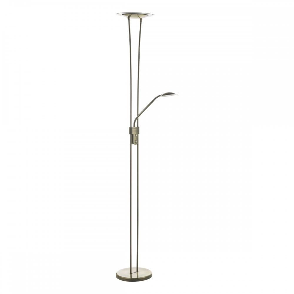premium selection a49a0 8be44 HAHN LED Mother and Child Floor Lamp Antique Brass LED