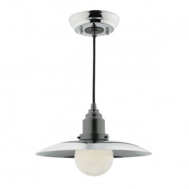 HANNOVER - 1 Light Ceiling Pendant Polished Chrome Antique Chrome Polished Chrome