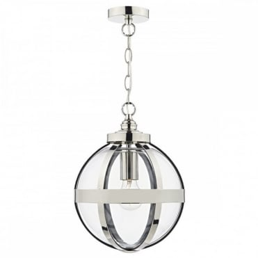 HEATH - 1 Light Ceiling Pendant Polished Nickel