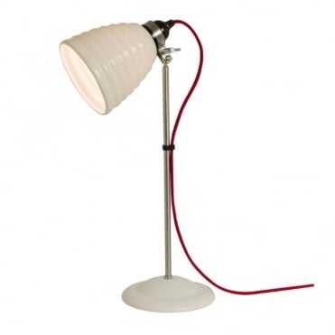 HECTOR - Bibendum Table Light White With Red Cable