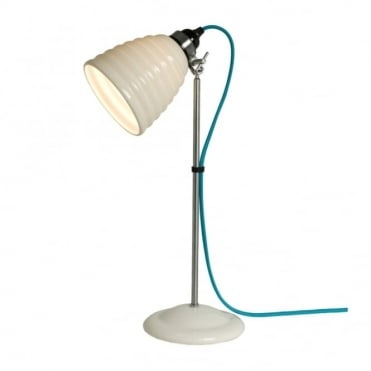 HECTOR - Bibendum Table Light White With Turquoise Cable