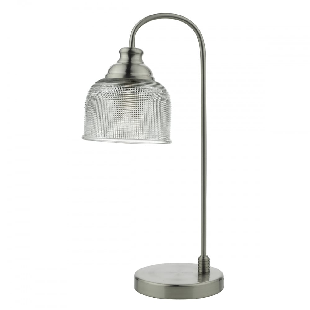 Modern retro vintage prismatic glass table lamp lighting and lights uk hector satin nickel cw shade table lamp aloadofball Image collections