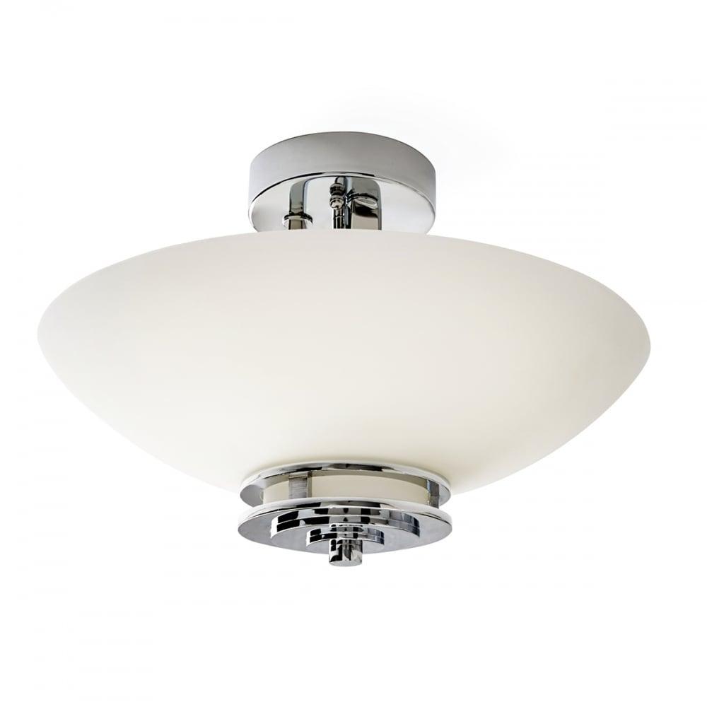 Hendrik 2 light semi flush polished chrome lighting and lights uk hendrik 2 light bathroom semi flush ceiling light polished chrome opal glass aloadofball Images