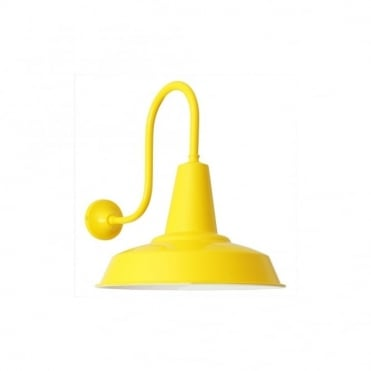 HEX - Factory Industrial Wall Light In Powder Coated Yellow