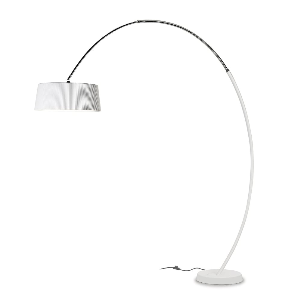 quality design 63b96 04580 HOOP - Arched 3 Light Floor Lamp in Steel and Matte White