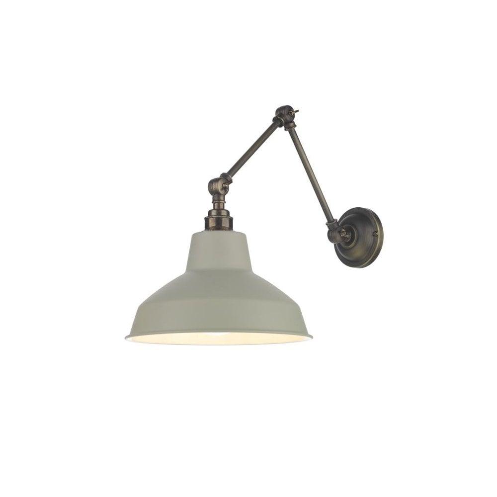 Antique Brass Adjustable Wall Light Ceiling Pendant Shade Retro