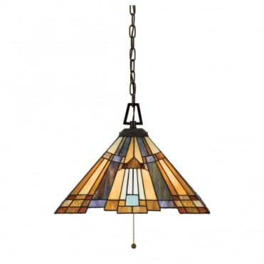 INGLENOOK - Pendant in Gold, Green, Blue, Multi Colour, Bronze