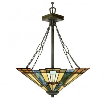 INGLENOOK - Pendant in Green, Blue, Multi Colour, Bronze, Cream/Ivory