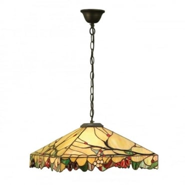 ARBOIS - Arts And Crafts Style Tiffany Ceiling Pendant