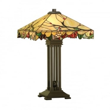 ARBOIS - Arts And Crafts Style Tiffany Table Lamp