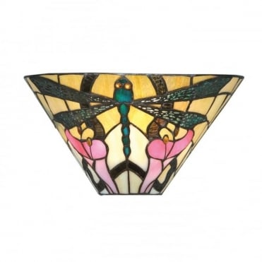 ASHTON - Tiffany Wall Washer Wall Light In Art Nouveau Style