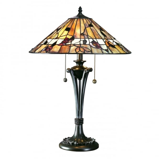 BERNWOOD - Tiffany Table Lamp In Warm Earth Colours