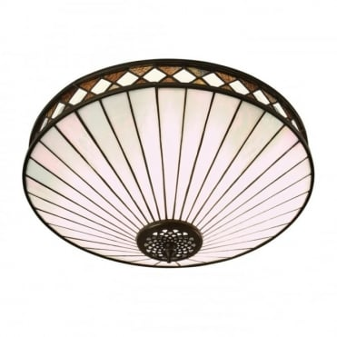 FARGO Tiffany Art Deco style flush ceiling light