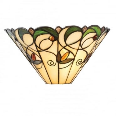 JAMELIA - Tiffany Wall Washer Wall Light In Art Nouveau Style