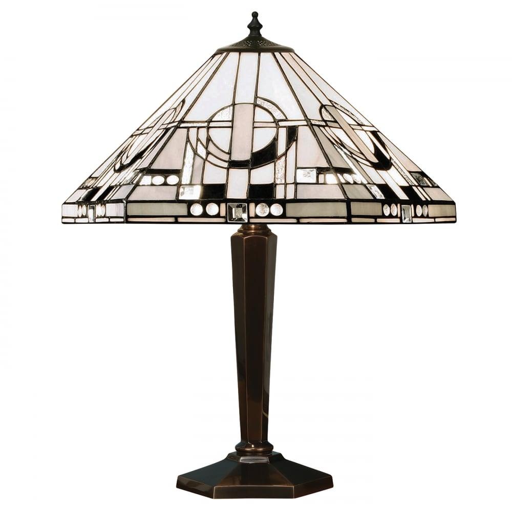 Antique Tiffany Chandeliers 1900: METROPOLITAN Art Deco Style Tiffany Table Lamp, Antique