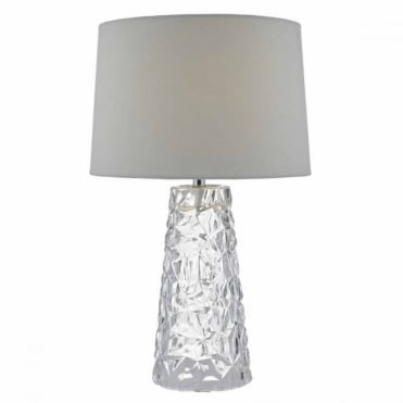 JAFAR - Clear White Table Lamp with Shade