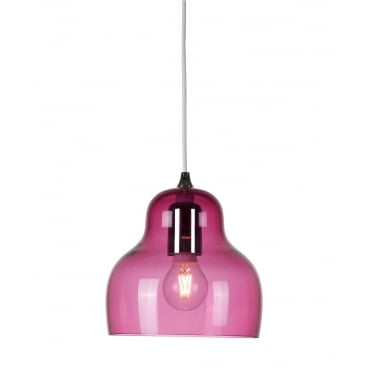 JELLY - Translucent Deep Pink Glass Ceiling Pendant
