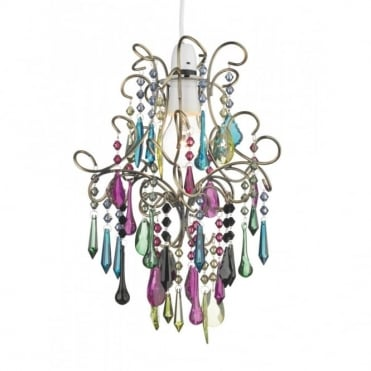 JODI - Easy Fit Multicoloured Glass Pendant Light