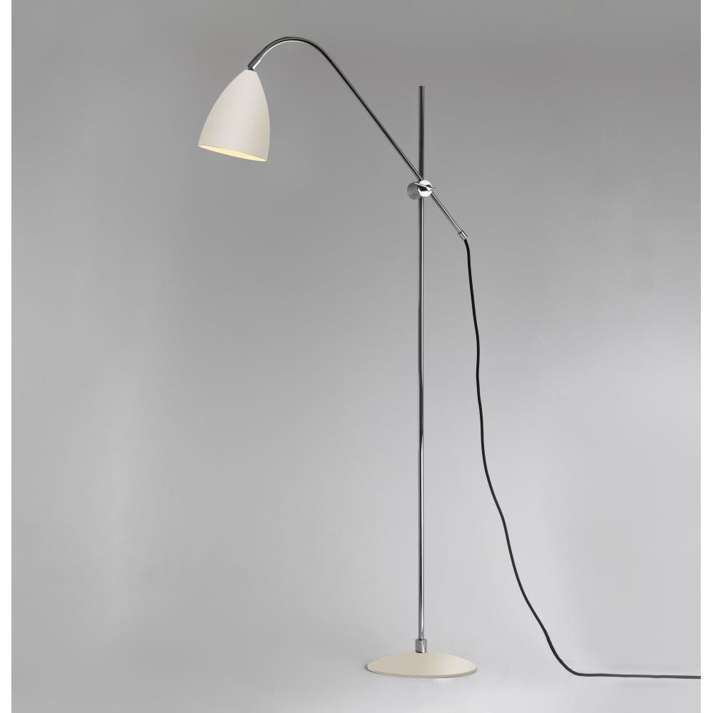 Joel contemporary floor lamp cream
