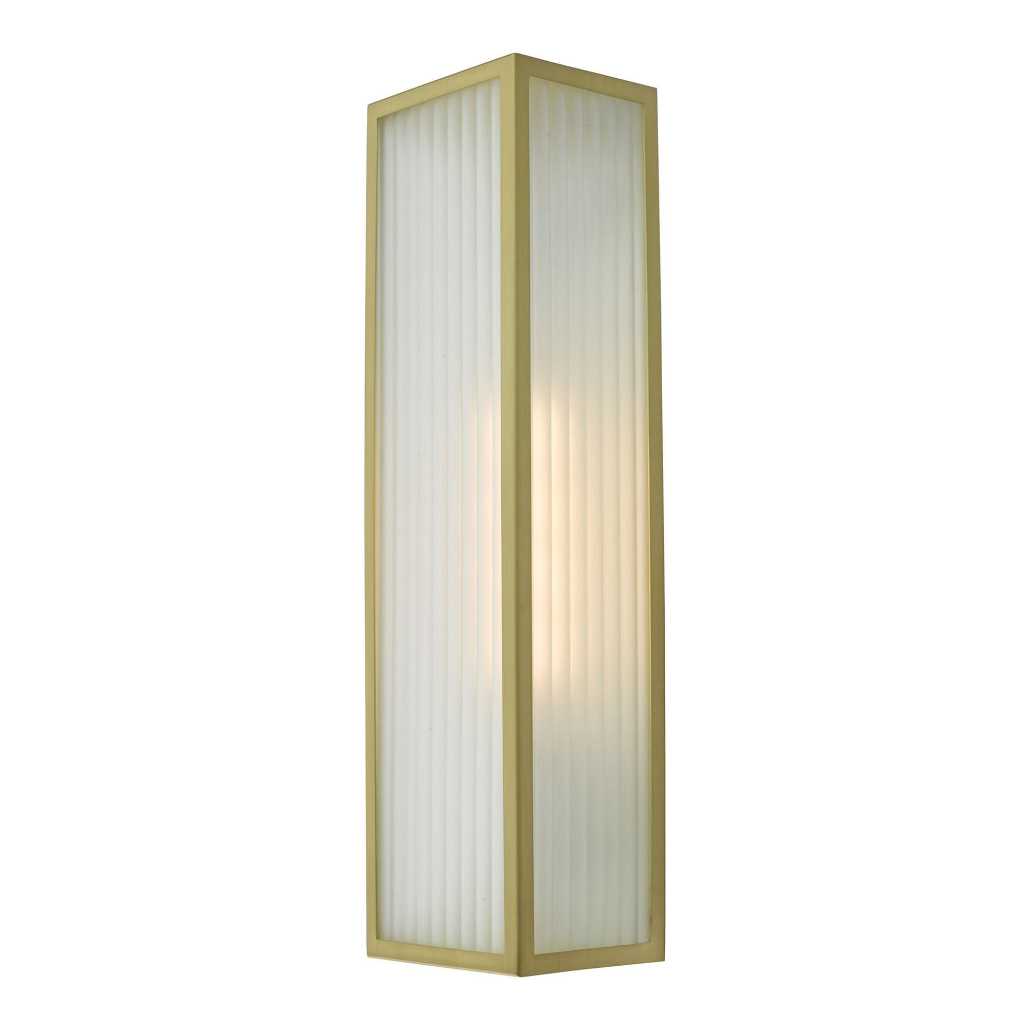 Keegan Bathroom Wall Light Satin Brass Ip44 Lighting And Lights Uk