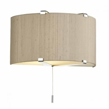 KENNEDY - Wall Washer Chrome Taupe Shade , Switched