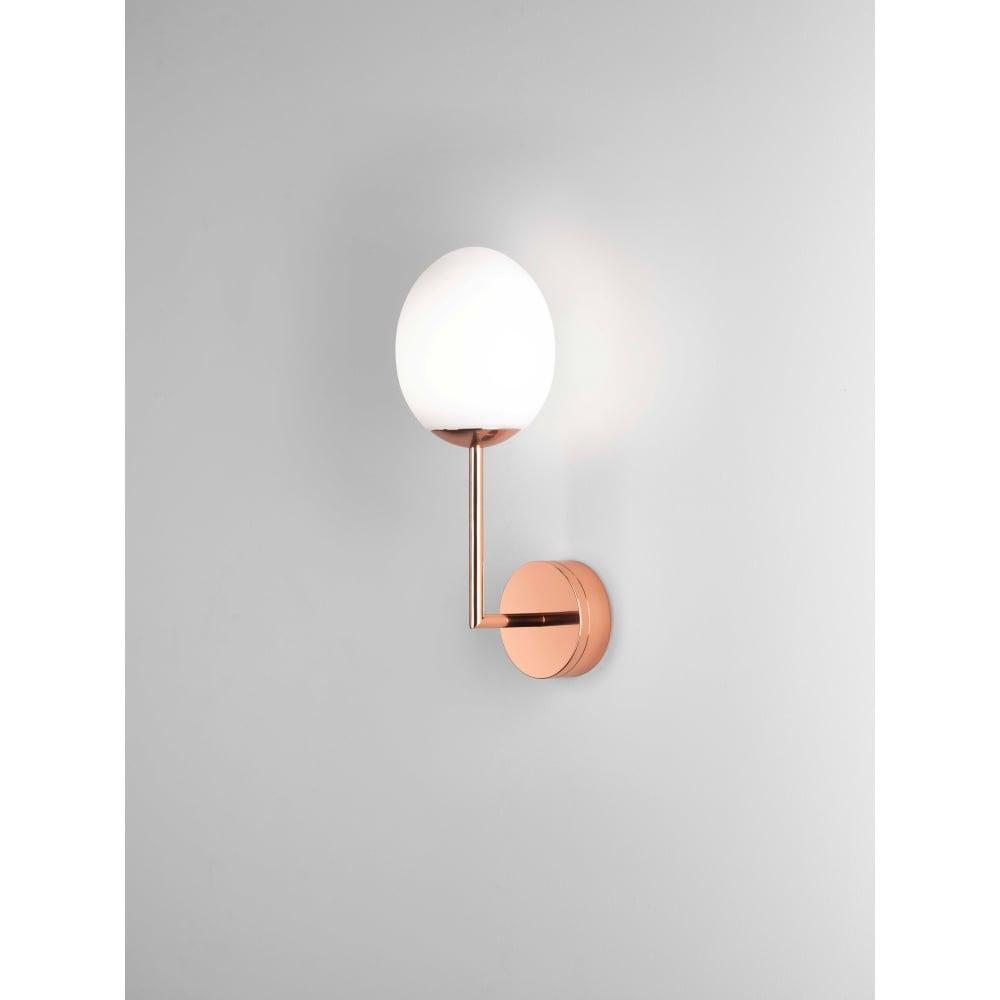 KIWI Bathroom , LED Wall Light Polished Copper - Lighting and Lights UK