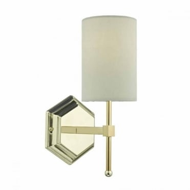 KLEMENS - Gold Wall Light with Cream Shade