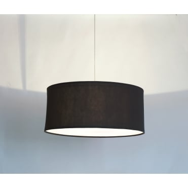 KOBE - XL 80cm Black Polyester Shade with White Cotton Diffuser and Memory Foam Liner