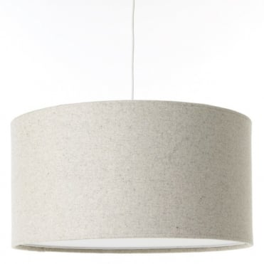 KOBE - XL 80cm Natural Shade in Wool with White Cotton Diffuser and Memory Foam Liner