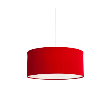 KOBE - XL 80cm Red Polyester Shade with White Cotton Diffuser and Memory Foam Liner