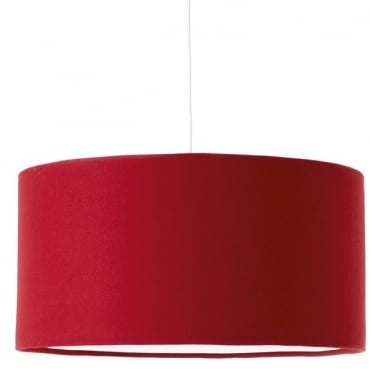 KOBE - XL 80cm Red Shade in Wool with White Cotton Diffuser and Memory Foam Liner