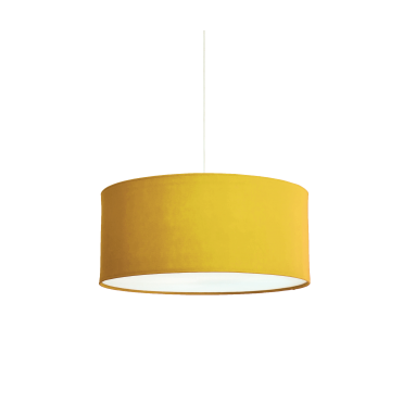 KOBE - XL 80cm Yellow Ochre Polyester Shade with White Cotton Diffuser and Memory Foam Liner