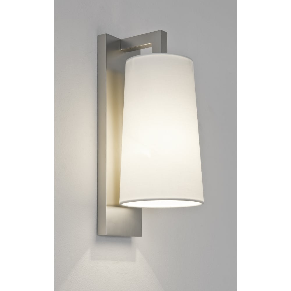 Astro LAGO   Contemporary Bathroom Wal Light In Matte Nickel With Opal Glass