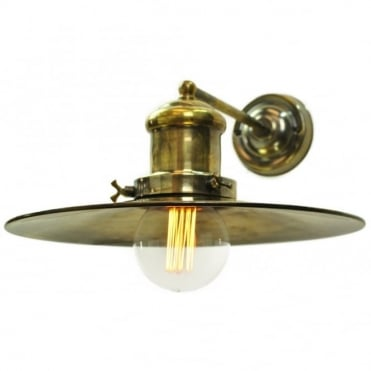 LARGE - Edison Wall Antique Brass C/W Lb3 Bulbs