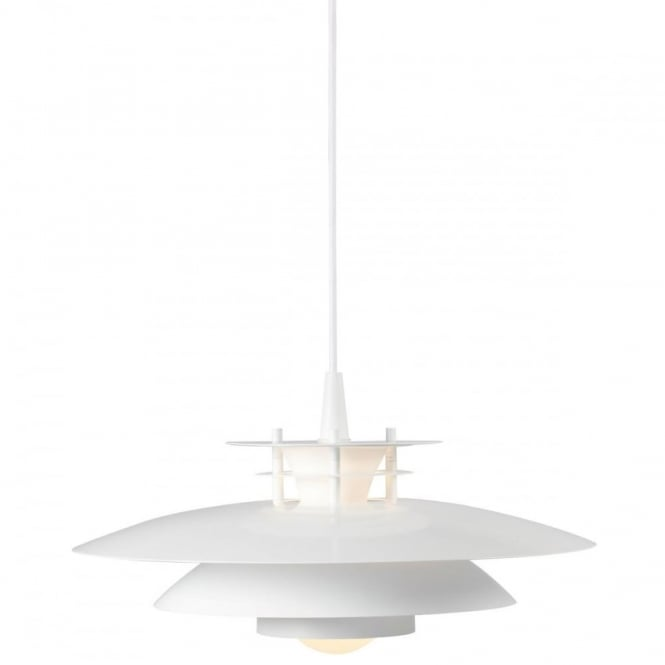 LD240 - Modern Ceiling Pendant White, or Choose Grey, Blue or Purple Top