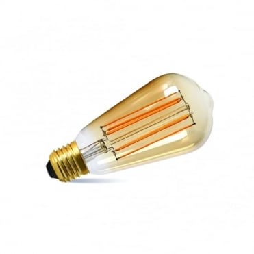 LED - Squirrel Cage Bulb 2.5 Watt (Es) Gold Tinted