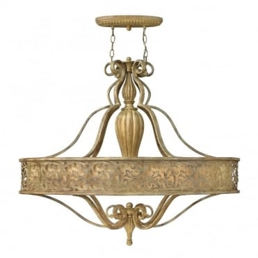 CARABEL - 6 Light Oval Chandelier