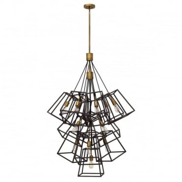 FULTON 13 Light Large Statement Chandelier Bronze