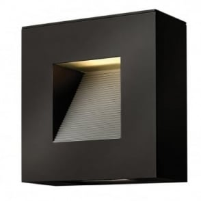 LUNA - Exterior LED Satin Black Small Wall Fitting