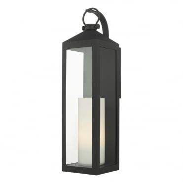 LIPTON Church Candle Exterior Wall Lantern Matte Black