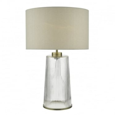 LIRA - Table Lamp Clear Complete With Shade Glass