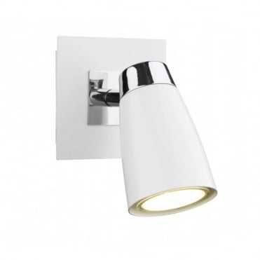 LOFT - Double Insulated Low Energy Single White Wall Spotlight in White