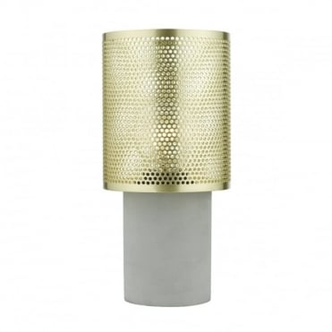 LOKI - Table Lamp Gold Grey Small Gold