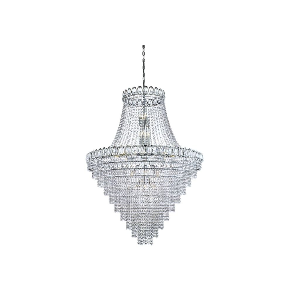 louis philipe crystal 28 light tiered chandelier clear crystals