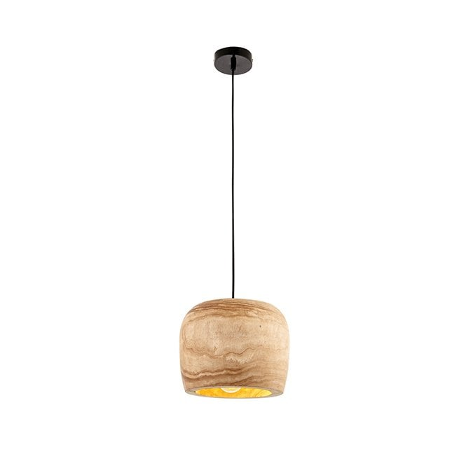 LUCY Natural Wood Ceiling Pendant Small
