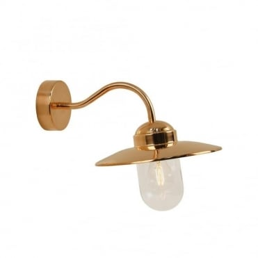 LUXEMBOURG - Traditional Exterior Wall Light Polished Copper
