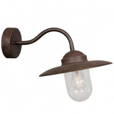 LUXEMBOURG - Traditional Exterior Wall Light Rust Finish