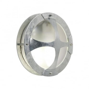MALTE - Galvanised Steel Exterior Bulkhead Wall Light